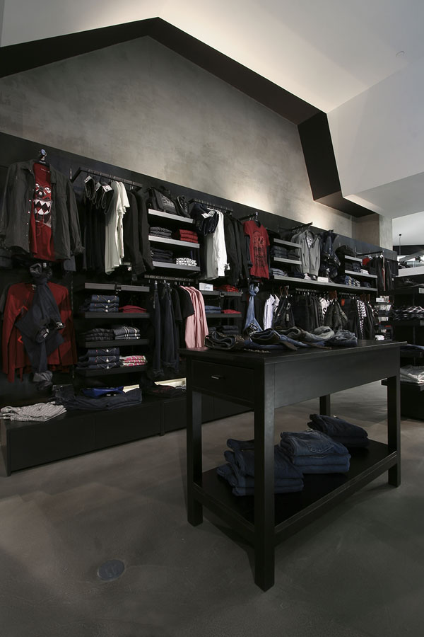 Clip Concept Store - View of clothes section display