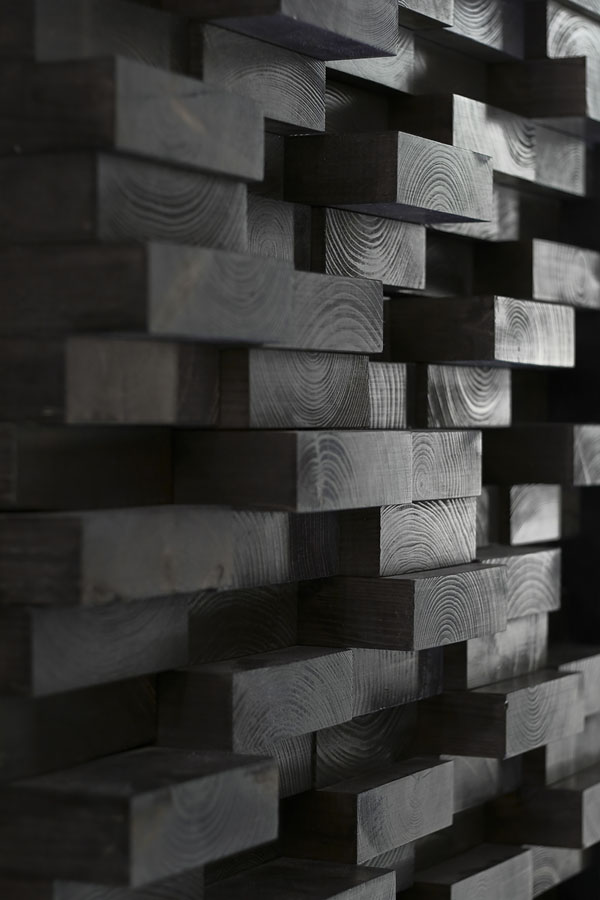 Clip Concept Store - Dark wood wall detail