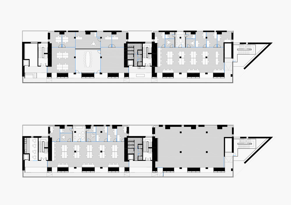 Fraunhofer Offices - Floor plans