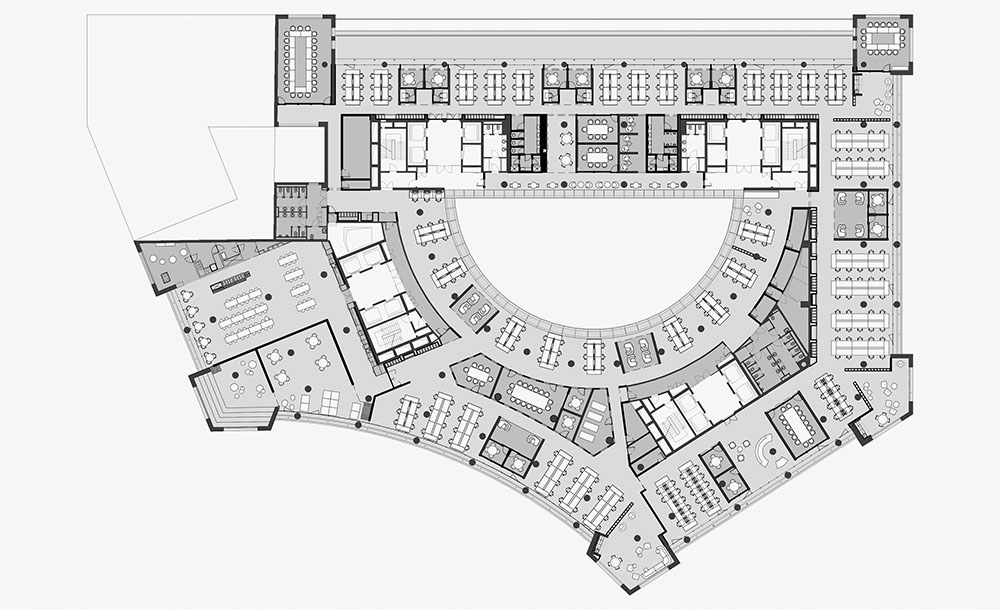 OLX Group Offices - Upper floor plan